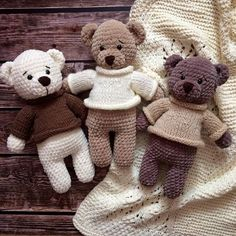 Amigurumi bears #crochet #crafts