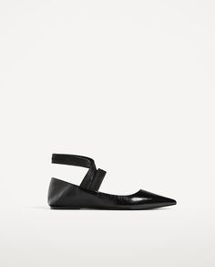 ZARA - COLLECTION SS/17 - FLAT LACE-UP LEATHER SHOES