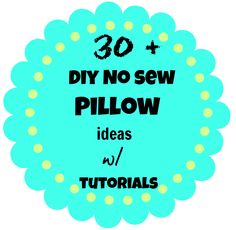 30 + #diy #no #sew #pillow ideas