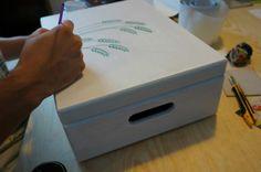 ręczne malowanie ozdobnej skrzynki na koperty to nowość ciesząca się dużym powodzeniem!