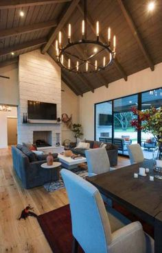 This modern farmhouse style home was custom designed by Geschke Group Architecture and built by Arbogast Custom Homes, located in Austin.Modern farmhouse style in Texas showcases fantastic design inspiration Coastal Living Rooms, House Design, Modern Farmhouse Style, Farmhouse Furniture, House, Modern Farmhouse Living Room Decor, Farmhouse Living Room Furniture, Home, Farmhouse Lighting