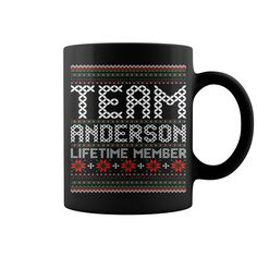 Team Anderson Lifetime Member Ugly Christmas mug