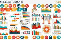 Business and shopping infographics. Infographic Elements
