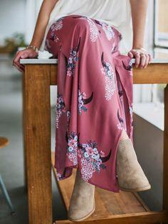 #Boho chic vibes! South Western Maxi Skirt, Bohemian Maxi Skirt, Altar'd State
