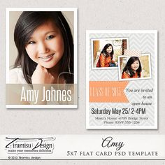 Instant Download Parchment Memory Senior Graduation Announcement