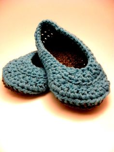 Total Comfort Everyday Slipper in Teal and by RedWindmillDesigns, $18.00