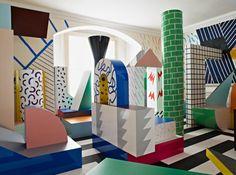 Groupe de Memphis, mouvement de design et d'architecture très coloré né en Italie dans les 80's