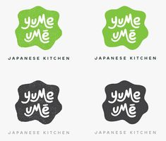 Yume umé Japanese kitchen  http://designisblank.com/2012/07/160over90-yume-ume-branding-and-collateral/#