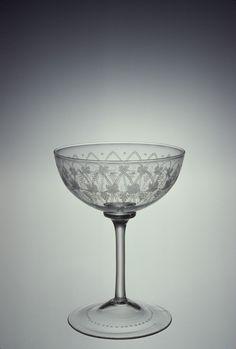 Champagne Glass      Falcon Glassworks of Apsley Pellatt & Co., Maker    England    possibly 1862