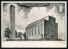 Pocztówka: Kościół Matki Boskiej Zwycięskiej na Kamionku w Warszawie, Zakł. Graf. B. Wierzbicki (post 1929)