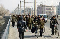 North Korea working folk