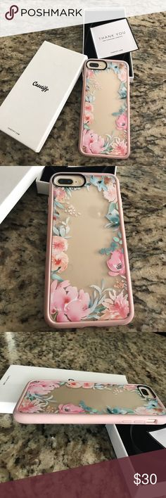 Casetify iPhone 7 Plus Lovely casetify case for iPhone 7 Plus, super cute flower design that will keep your phone safe and in style Casetify Accessories Phone Cases