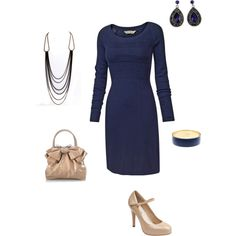 Blue sweater dress! I would kill for this!