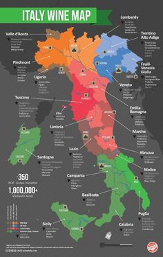 Italy wine map Cheers/Santé :-)