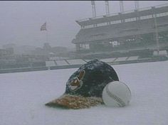 Video Vault: Baseball and snow familiar couple in Cleveland; Indians Opening Day weather runs gamut Cleveland Indians Baseball, Cleveland Ohio, Cleveland Rocks, Cleveland Against The World, Baseball Scores, Baseball Stuff, Bull Durham, Big Photo