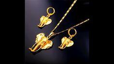 Elefanten Kette mit Elefanten Ohrringen Set gelb Gold überzogen  https://rwa-schmuck.de/collections/tiermotiv-schmuck/products/elefanten-kette-mit-elefanten-ohrringen-set-gelb-gold-uberzogen #ElefantenSchmuck #ElefantenKette #ElefantenAnhänger #ElefantenOhrringe #Elefanten #Elefant