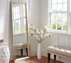 Aldina Golden-Beaded Floor Mirror - a great, stylish yet practical ...