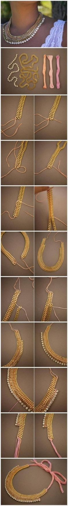 Multistrand statement necklace