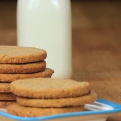 Digestive Cookies, Food For Digestion, Light Recipes, Creative Food, Food Videos, Cookie Recipes, Biscuits, Food And Drink, Sweets