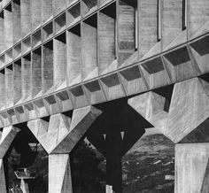 IBM France Research Center, La Gaude, France, (Marcel Breuer & Associates) Marcel Breuer, Architectural Engineering, Architecture Images, Tumblr Image, Concrete Structure, High Rise Building, Brutalist, Nature Scenes, France