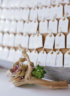 #escort-cards  Photography: Josh Gruetzmacher Photography - joshgruetzmacher.com  Read More: http://www.stylemepretty.com/2014/11/24/rustic-elegance-at-cornerstone-sonoma/