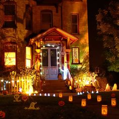 Decoration Brown Light Having Outdoor Scary Halloween Decor, 6 Slide Windows As Well As Mirror With Pumpkin Decor. In Conjunction With White...