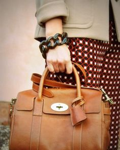 Mulberry Bayswater small satchel natural oak