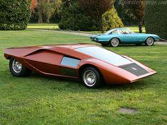 The Lancia Stratos HF Zero 1970 concept car, still looks futuristic over 40 years later.
