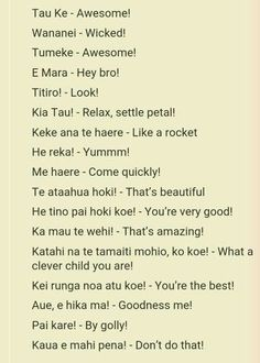 Te Reo phrases to use in class: