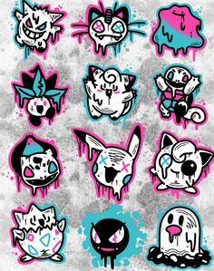 Pokermon tattoos and designs done by To submit your work use the tag And don't forget to share our page too! Pokemon Tattoo, Pokemon Fan Art, Cute Pokemon, Pokemon Pokemon, Graffiti Doodles, Graffiti Drawing, Graffiti Art, Gamer Tattoos, Anime Tattoos
