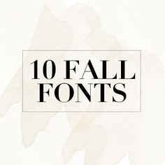 A list of 10 free fall fonts perfect for the autumn months! It's time to get creative and download some free fonts!