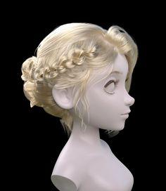Hairstyles, Noriko Sato on ArtStation at https://www.artstation.com/artwork/XVb5a