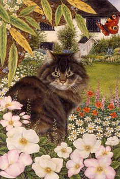 """""""Country Cat"""" by Anne Mortimer."""
