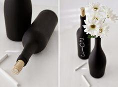 Pittura effetto lavagna: vaso decorativo | Blackboard paint pot • #lavagna #design #blackboard #paint