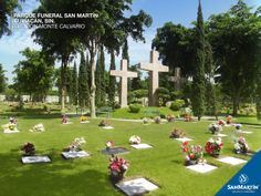 Parque Funeral San Martín #Culiacán, Sección Monte Calvario: Para la fe Católica, estas tres cruces representan amor, esperanza, perdón y sacrificio. Este símbolo que representa a Monte Calvario, está presente en todos los Parques Funerales San Martín.