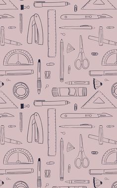 Like to keep your home feeling organized and inspiring? Our Hobby Pink pattern is the perfect wallpaper for your next room remodel. Whether you're decorating a cool child's bedroom, a stylish school classroom, an artistic office space, or your own crafts room, this hand-drawn design will fill your wall with all the stationery items that you and your kids love to get creative with. The clean color palette of navy blue against powder pink is playful and modern.