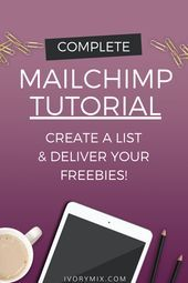 How to use MailChimp A Complete Tutorial for Setting it Up & Sending Emails - Email Marketing - Start your email marketing Now. - How to use Mailchimp a complete Tutorial to help you Create an Email List and Deliver your freebies automatically Email Marketing Design, Email Marketing Strategy, E-mail Marketing, Email Design, Marketing Digital, Affiliate Marketing, Online Marketing, Influencer Marketing, Marketing Ideas