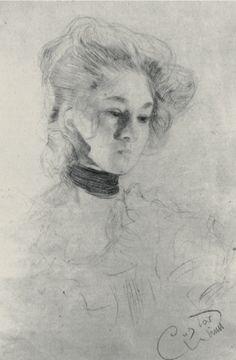 "Gustav Klimt 1898 Study for ""Schubert at the Piano"""