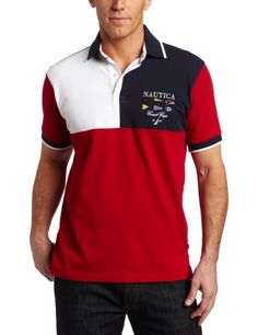 Nautica Men's Short Sleeve Sailing Polo Shirt $69.50
