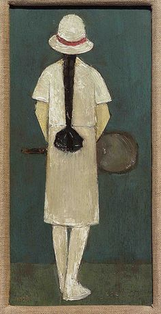 LS Lowry's The Tennis Player. A touch classier than the tennis player scratching her arse poster.