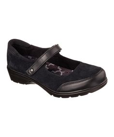 855f62e44deb Skechers Black Metronome Relaxed Fit Suede Mary Jane