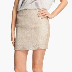 Haute Hippie lace pencil skirt Cream lace pencil skirt Haute Hippie Skirts Mini