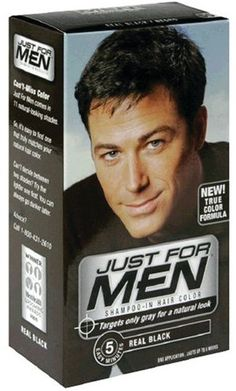 Just for Men Hair Color 55  Real Black Kit Pack of 6 * More info could be found at the affiliate link Amazon.com on image.