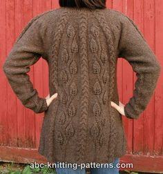 ABC Knitting Patterns - Cables and Leaves Tunic