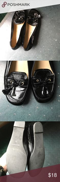 Brunomagli patent wedge loafers EUC Bruno Magli Shoes