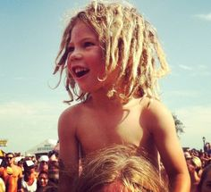 Little boy with dreads! He looks like a mini surfer, cutie!
