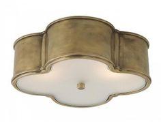Grand plafonnier en laiton naturel / Large flushmount in natural brass…
