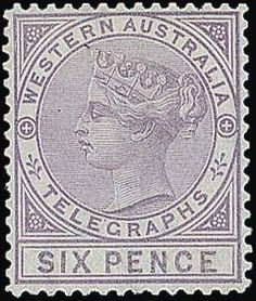 Joanne and Edward Dauer Collection of Australian States and Commonwealth - / Western Australia / Lot Western Australia Telegraph Stamps T1 T2, Western Australia, Postage Stamps, Coins, Auction, Antiques, Art, Seals, Antiquities