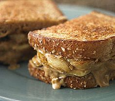 Grilled Banana Sandwiches recipe by Panera Bread: caramelized banana + cream cheese + peanut butter + honey.