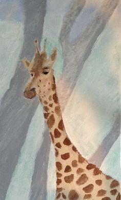 Giraffe by February Grace Acrylic on canvas